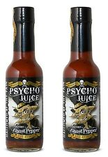 Dr Burnorium Set Of 2 Psycho Juice 148ml Extreme Ghost Pepper Hot Chilli Sauce