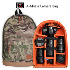 Large Camera Backpack Bag for Canon Nikon Sony DSLR & Mirrorless by A-MoDe Camo