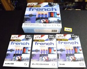 BBC Get Into FRENCH beginners' language course pack- Audio CD, PC CD-ROMs & Book