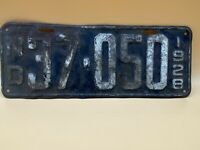Vintage 1928 North Dakota License Plate Number 37-050