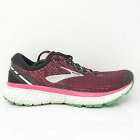 Brooks Womens Ghost 11 1202771B017 Pink Black Running Shoes Lace Up Size 9.5 B