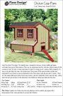 5'x6' Chicken Coop / Hen House Plans, Saltbox Roof Style, Design #90506S