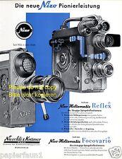 Nizo Kamera Reklame von 1960 Spiegelreflexkamera Niezoldi Krämer Heliomatic ad +