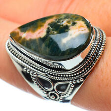 Large Ocean Jasper 925 Sterling Silver Ring Size 8.5 Ana Co Jewelry R32736