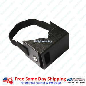Pu Material VR Google CardBoard  VR Box for Android or iPhone + Mount Strap