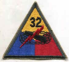 1950's-60's Original Us Army 32nd Armored Tank Unit Patch