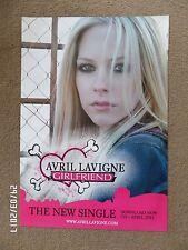 AVRIL LAVIGNE GIRLFRIEND ORIGINAL 2007 PROMO POSTER.