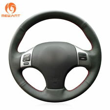 DIY Hand-stitched Black Leather Steering Wheel Cover for Lexus IS250 IS300 IS350