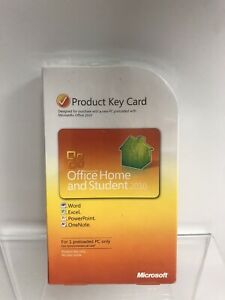 Microsoft Office Home and Student 2010 Full Retail Windows Key Card 1 PC License