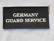 GERMANY Guard Service, TRF, patch, distintivi, 60x115mm