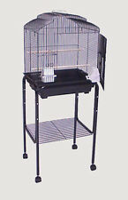 "Rolling Stand For 18"" x 14"" or 18"" x 18"" Bird Cage (Stand Only) Black-146"