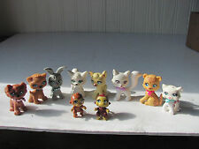 10 Polly Pocket Pets 4 Cats, 1 Rabbit,  2 Dogs, 2 Monkees & a Cheetah