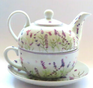 Lavender Ceramic Tea for One Teapot & Cup - Comes Boxed