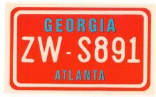 figurina U.S.A. TARGHE NUMBER PLATES EDIZIONE FIGURINA CLUB NEW GEORGIA