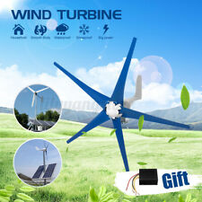 5000W Wind Turbine Generator DC 12V 5 Blades with windmill Charge Controller