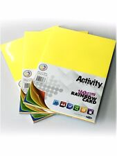 A4 Activity Card Sheets 160 gsm Coloured Craft Card (Pack of 50 Sheets)