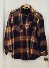 Men's XL Vintage Sears King's Road Wool, Acrylic Cotton Blend Plaid Shirt