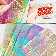 Hot Sell Grid Stencil Manicure Tip Nail Art Tool Nail Art Transfer Sticker Vinyl