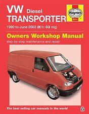 New VW Transporter T4 1.9 2.4 2.5 Diesel 1990-2003 Haynes Workshop Manual 5711