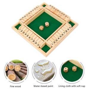 Jeu de famille 4 joueurs ferment la boîte en bois traditionnel dés enfants co B3