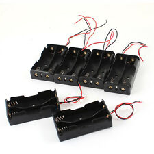 6 Pcs Black Plastic 2 x3.7V 18650 Type Battery Holder Box Case LW