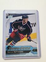 F63452  2016-17 Upper Deck #457 Markus Nutivaara YG RC BLUE JACKETS