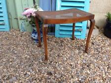 Vintage Queen Anne Stool Piano Stool Rattan Seat 30's Cabriole Legs Rustic Chic