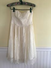 Thistlepearl Formal Fine Cream Lace Strapless Dress Size 4