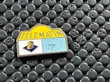 pins pin BADGE MEDIA ANTENNE 2 TELE MATIN MONTRE HORLOGE
