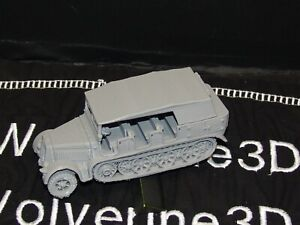 Flames Of War German Sdkfz 7 Tractor Open w Top 1/100 15mm FREE SHIPPING