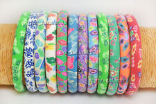 Wholesale 12pcs FIMO Polymer Clay Flower Women/Girl's Bangle Bracelets
