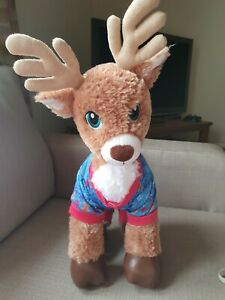 "🎄 Build A Bear BABW 18"" Dasher Reindeer Christmas PJs Outfit Soft Plush Toy"