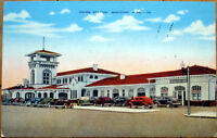1940 Postcard: Union Station/Amtrak Train Depot - Meridian, Mississippi MS