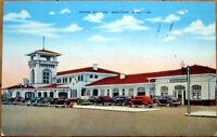 1940 Postcard: Union Station/Amtrak Train Depot - Meridian, Mississippi MS