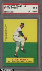 1964 Topps Stand-Up Steve Barber Baltimore Orioles PSA 5 EX