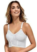 Ladies Naturana Soft Cup Deep Midi Comfort Bra 86012 White