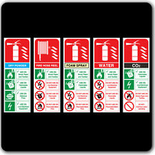 Fire Extinguisher ID Stickers Signs Labels
