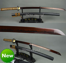 DAMASCUS FOLDED STEEL KATANA BATTLE READY JAPANESE SAMURAI SWORD RAZOR SHARP