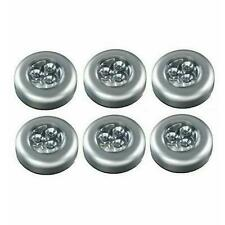 6 x Stick n Click led lights bright click push light for kitchen cupboards