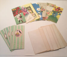 """Vintage Greeting Cards With Box Pop-Up Flowers """"The Deluxe Everyday Assortment"""""""