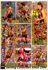 1995 Select AFL Series 1 Personal Autographed Cards Team Set Hawthorn (15)