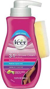 New Veet Botanic Inspirations  3 In 1 in Shower Cream, 13.5 fl Oz Hair Remover