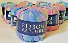 """Filati Europa"" Ribbon Yarn ""Pastel Tones"" Pink, Blue,Yellow, Green Crochet Knit"