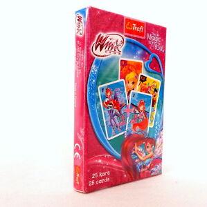 Winx Club Children playing card games. Black Peter. Karty do gry dla dzieci