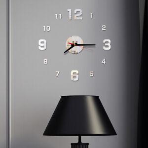 3D DIY Acrylic Simple Digital Wall Clock Creative Home Living Room Decoration A+
