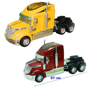 Kids Container Truck Model 1: 24 Friction Toys with Engine Sound Music & Lights