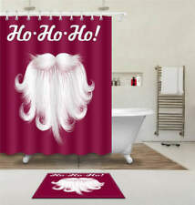 Thick Beard Waterproof Bathroom Polyester Shower Curtain Liner Water Resistant
