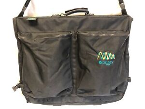 Delsey Vintage Black / Teal Garment Bag Luggage