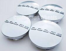 "(4x) Dodge 2.5"" Chrome Center Caps 63mm Hub Caps Fits: 17""-20"" Wheels 1SK35SZ0AA"