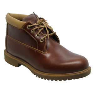 Mens Timberland Brown Leather Smart Mid Ankle Boots Shoes Size UK 8.5 Eu 43 1973
